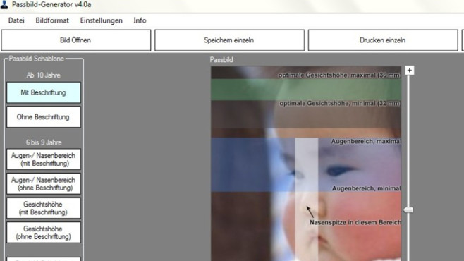 Passbild-Generator: Foto für Personalausweis anfertigen ©COMPUTER BILD