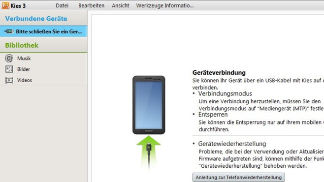 Samsung Kies: Handy mit Android besser nutzen ©COMPUTER BILD