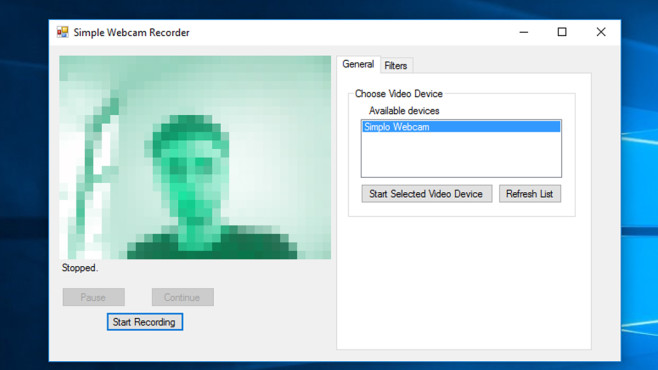 Simple Webcam Recorder: Selfies per Notebook machen © COMPUTER BILD