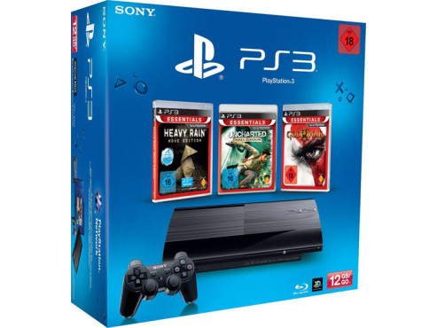 PlayStation 3 Super Slim (12 GB) plus drei Spiele ©Sony