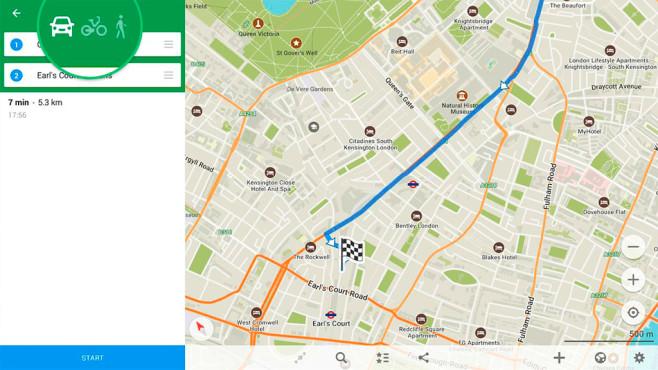 Navigation: Maps.me ©Maps.me