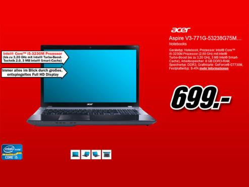 Acer Aspire V3-771G-53238G75MAII NX.M7REG.005 ©Media Markt
