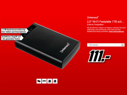 Intenso Memory 2 Move USB 3.0 1TB © Media Markt