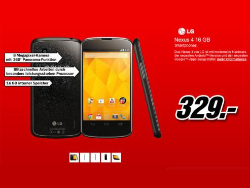 LG Google Nexus 4 16GB ©Media Markt