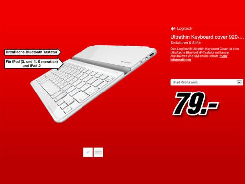 Logitech Ultrathin Keyboard Cover DE ©Media Markt