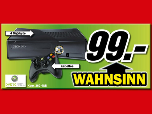 Microsoft Xbox 360 S Arcade 4GB ©Media Markt
