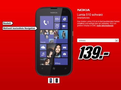 Nokia Lumia 510 ©Media Markt
