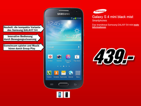 Samsung Galaxy S4 Mini © Media Markt