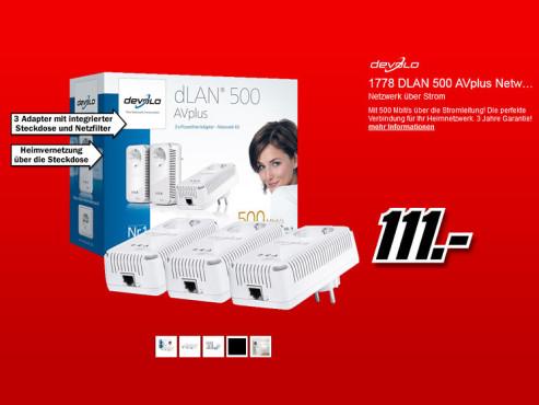 devolo dLAN 500 AVplus Network Kit ©Media Markt