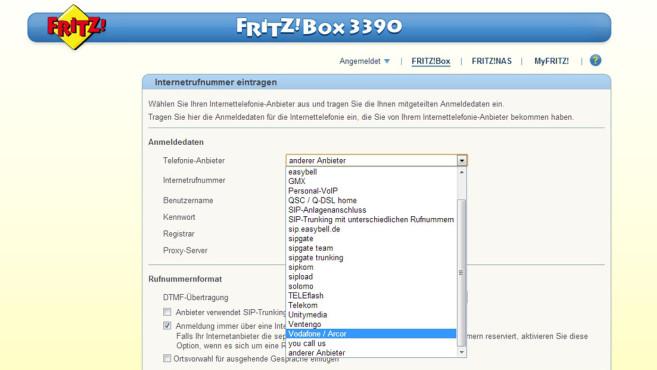 FritzBox mit Vodafone DSL- und Telefonanschluss ©COMPUTER BILD