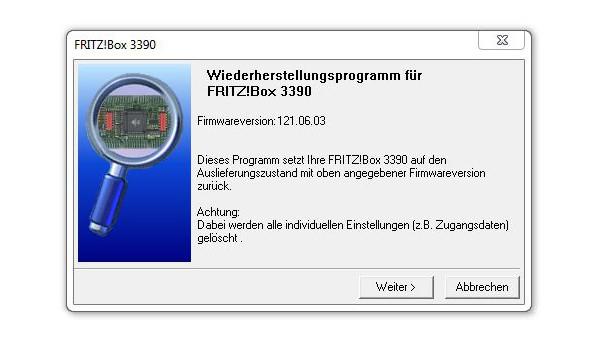 FritzBox zurücksetzen ©COMPUTER BILD