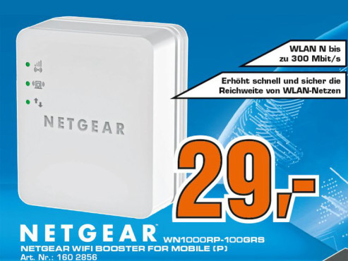 Netgear WLAN-Repeater (WN1000RP) ©Saturn