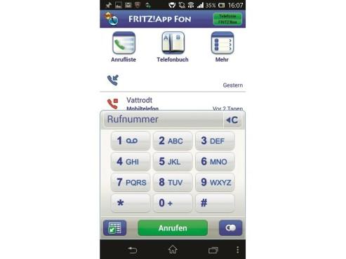 Apps für Fritz: Fritz App Fon ©COMPUTER BILD