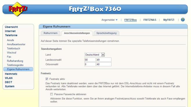 FritzBox als Faxgerät: Faxe senden ©COMPUTER BILD