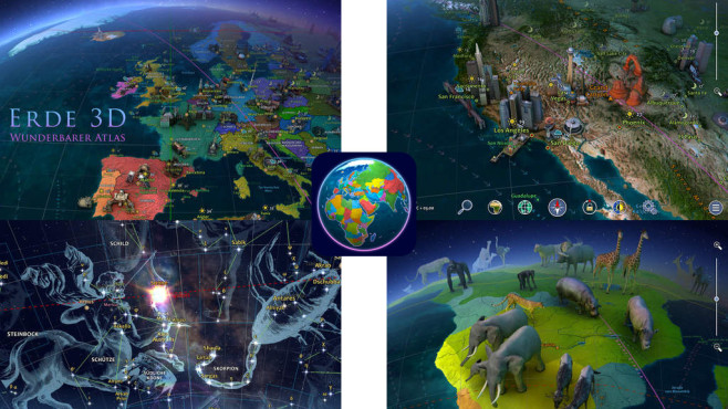 Erde 3D - Wunderbarer Atlas ©3Planesoft