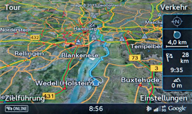 Audi Navigation ©COMPUTER BILD / Audi