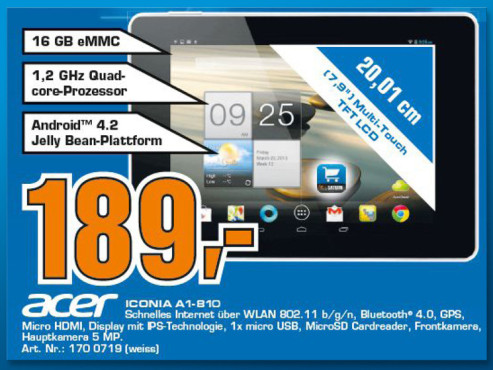 Acer Iconia A1 16GB © Saturn