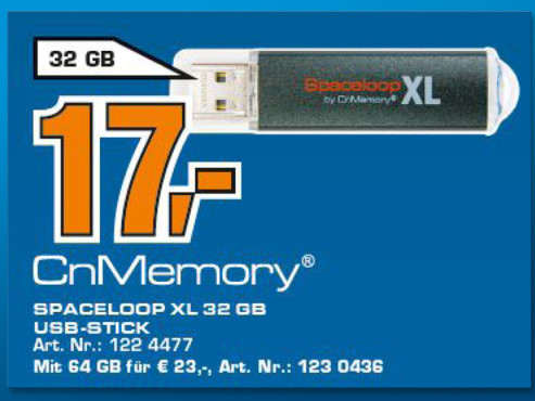 CnMemory Spaceloop XL 32GB © Saturn
