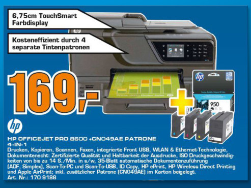 Hewlett-Packard HP Officejet Pro 8600 N911a © Saturn