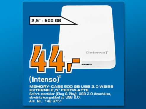 Intenso Memory Case 500GB © Saturn
