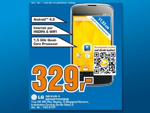 LG Google Nexus 4 16GB Black ©Saturn