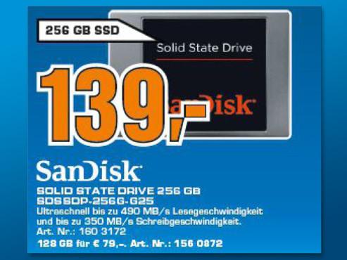 Sandisk 256GB SSD SATA III 2.5 ©Saturn