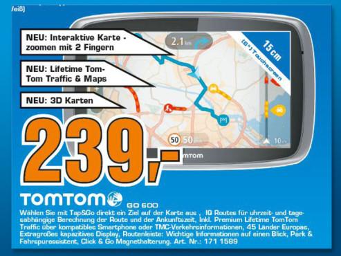 TomTom Go 600 Europa mit TMC ©Saturn