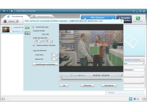 Any Video Converter Free © COMPUTER BILD