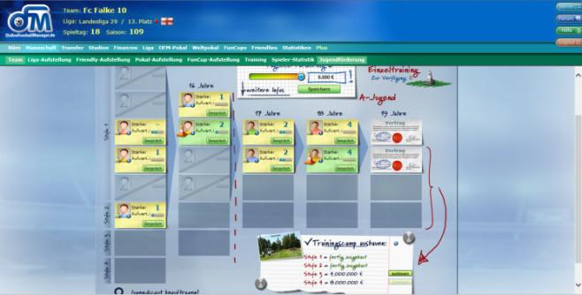 """Browserspiel """"Online Fussball Manager"""": Jugend ©Online Fussball Manager"""