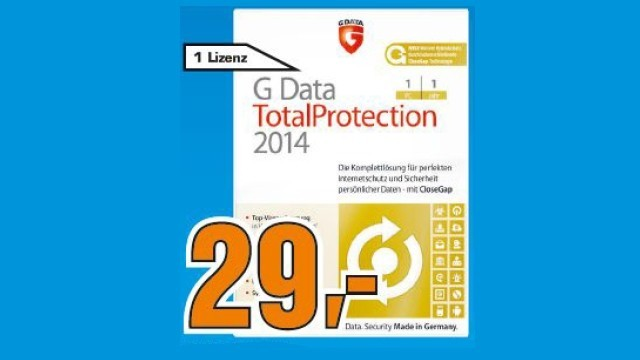 G Data TotalProtection 2014 (1 User) (1 Jahr) (Win) (DE) © Saturn