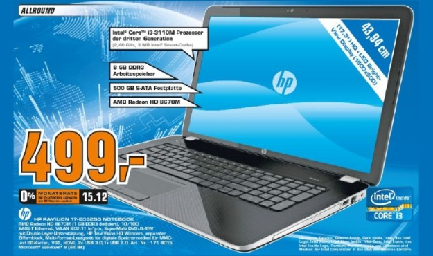 Hewlett-Packard HP Pavilion 17-e032sg © Saturn