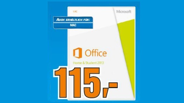 Microsoft Office 2013 Home and Student (DE) © Saturn