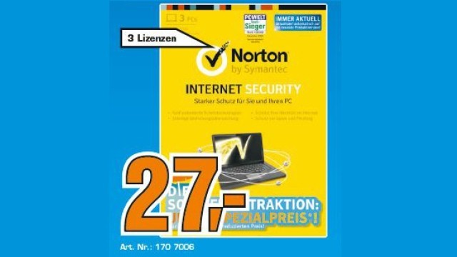 Symantec Norton Internet Security 2013 (3 User) (1 Jahr) (Win) (DE) © Saturn