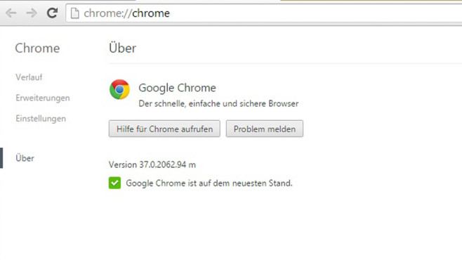 Google Chrome 37 © COMPUTER BILD