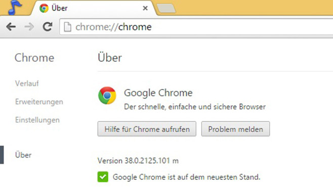 Google Chrome 38 © COMPUTER BILD