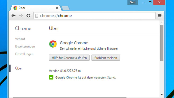 Google Chrome 41 © COMPUTER BILD