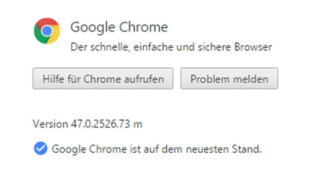 Google Chrome 47 © COMPUTER BILD