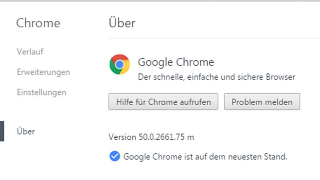 Google Chrome 50 © COMPUTER BILD