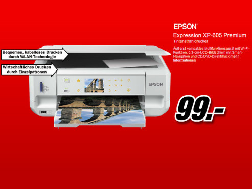 Epson Expression Premium XP-605 © Media Markt