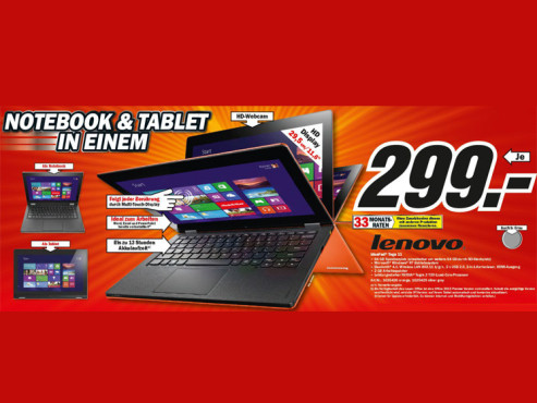 Lenovo IdeaPad Yoga 11 © Media Markt