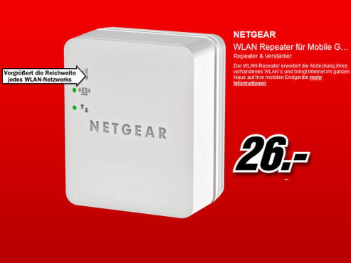 Netgear WLAN-Repeater (WN1000RP) © Media Markt