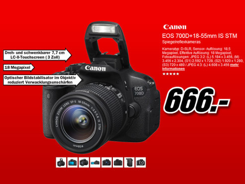 Canon EOS 700D Kit 18-55 mm © Media Markt