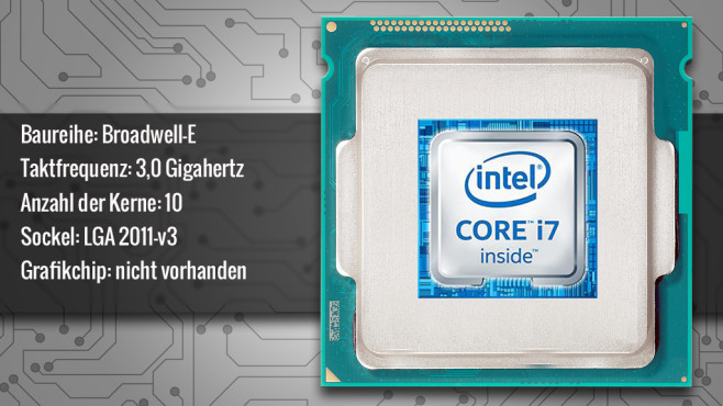 Intel Core i7-6950X (Broadwell-E) © ecrow - Fotolia.com, Intel