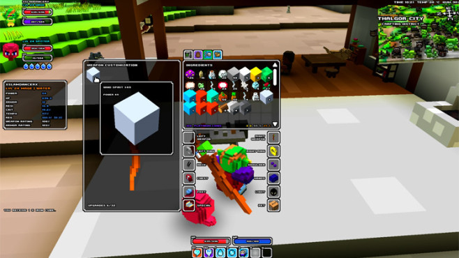 Rollenspiel Cube World: Customization Bench © Picroma