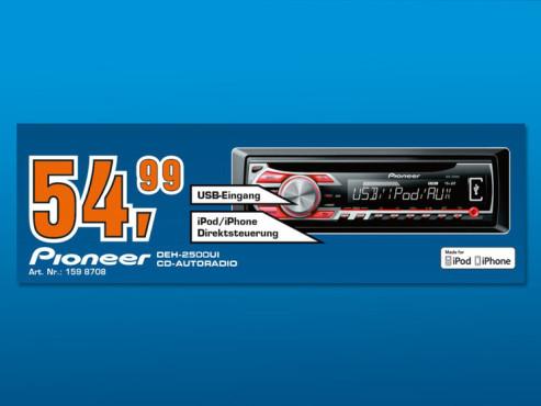 Pioneer DEH-2500Ui ©Saturn