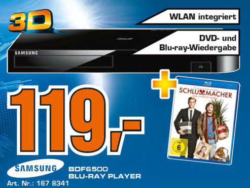 Samsung BD-F6500 ©Saturn