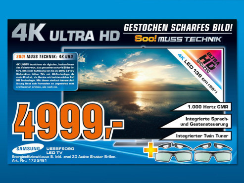 Samsung UE55F9090 ©Saturn