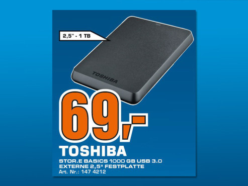 Toshiba Stor.e Basics 1TB ©Saturn