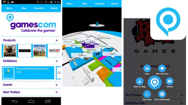 Gamescom-App © INSIDE Guidance