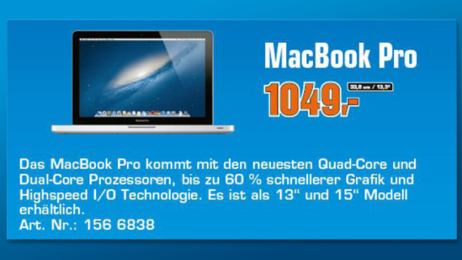 "Apple MacBook Pro 13"" (MD101D/A) © Saturn"